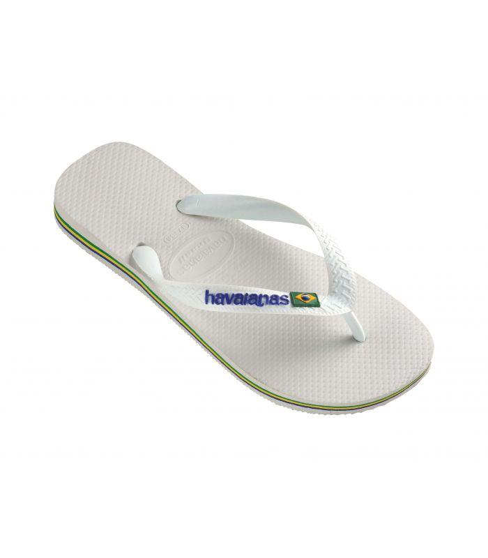 Sandalias / Chancletas Hombre - Havaianas Brasil Blanco Calzado Montaña