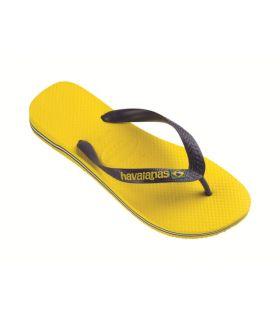 Havaianas Brasil Amarillo Sandalias / Chancletas Hombre Calzado