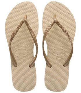 Havaianas Slim Beig Sandalias / Chancletas Mujer Calzado
