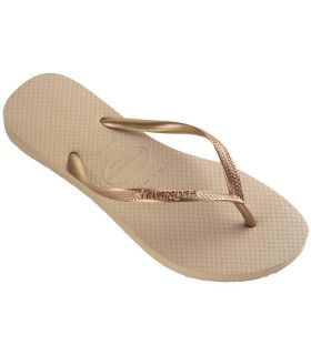Sandalias / Chancletas Mujer - Havaianas Slim Beig beige Calzado Montaña