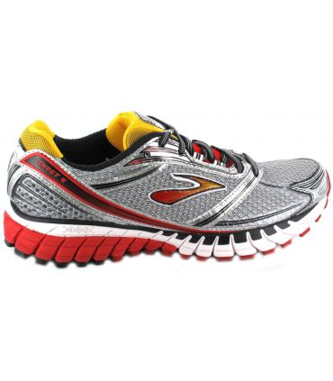 Brooks Ghost 6 Gris Rouge
