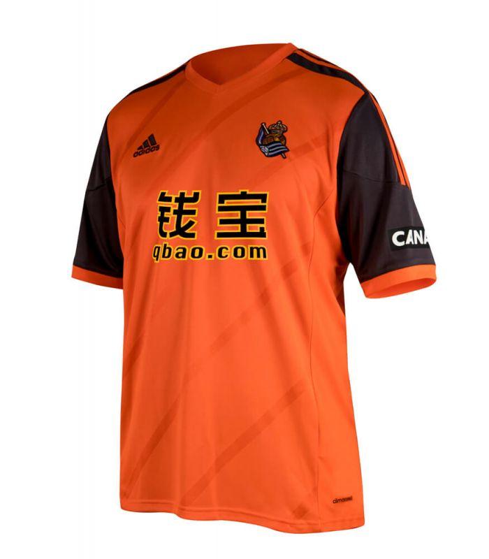 T-Shirt Adidas Real Sociedad Officiel 2 2014/15 - Maillots De