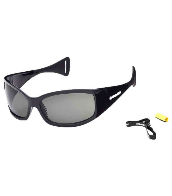 Ocean Mentaway Shiny Black / Smoke - Sunglasses Running