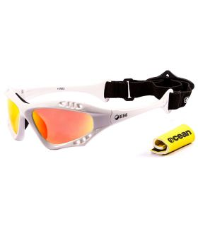 Ocean Australia Shiny White / Revo - Sunglasses Running