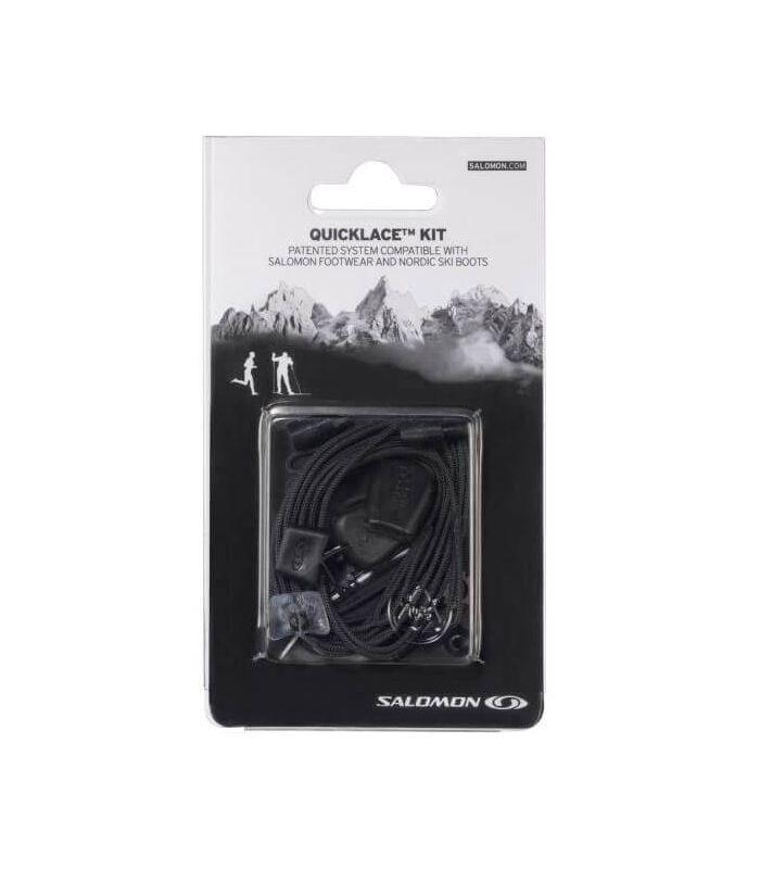 Salomon Quicklace Lacets Noir - Modèles et Accessoires Montagne