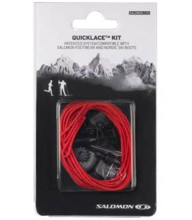 Salomon Cordones Quicklace Rojo