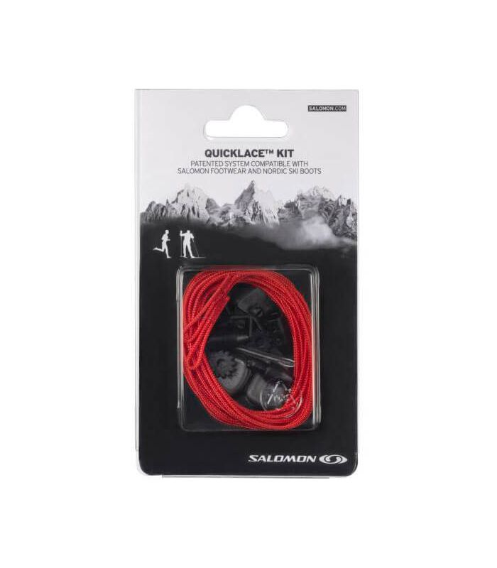 Salomon Quicklace Lacets Rouge