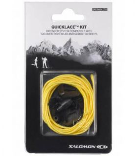 Salomon Cordones Quicklace Amarillo