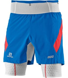 Salomon S-Lab Exo Twinskin Short Blue