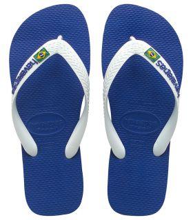 Havaianas Brasil Logo Azul Blanco