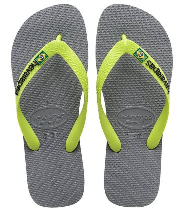 Havaianas Brazil Logo Gris Vert