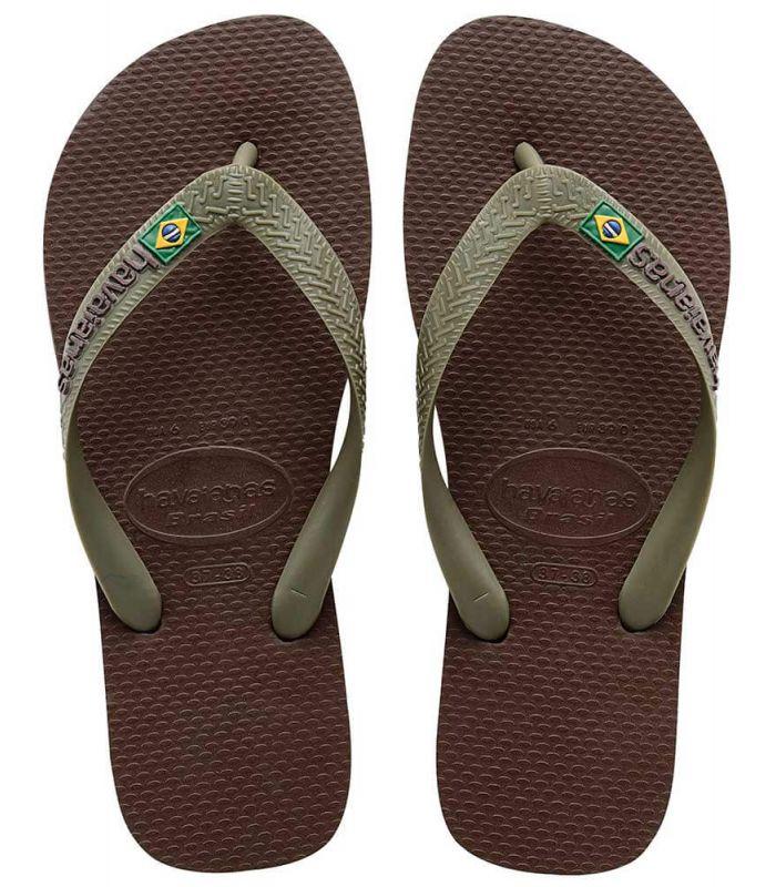 Havaianas Brasil Logo Marron