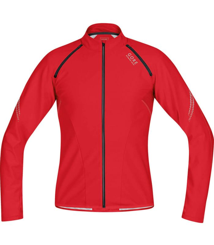 Camisetas Técnicas Trail Running - Gore Magnitude Windstopper Soft Shell Zip-Off Rojo Textil Trail Running