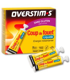 Overstims Gel Coup de Fouet liquide, Citron, sans Gluten