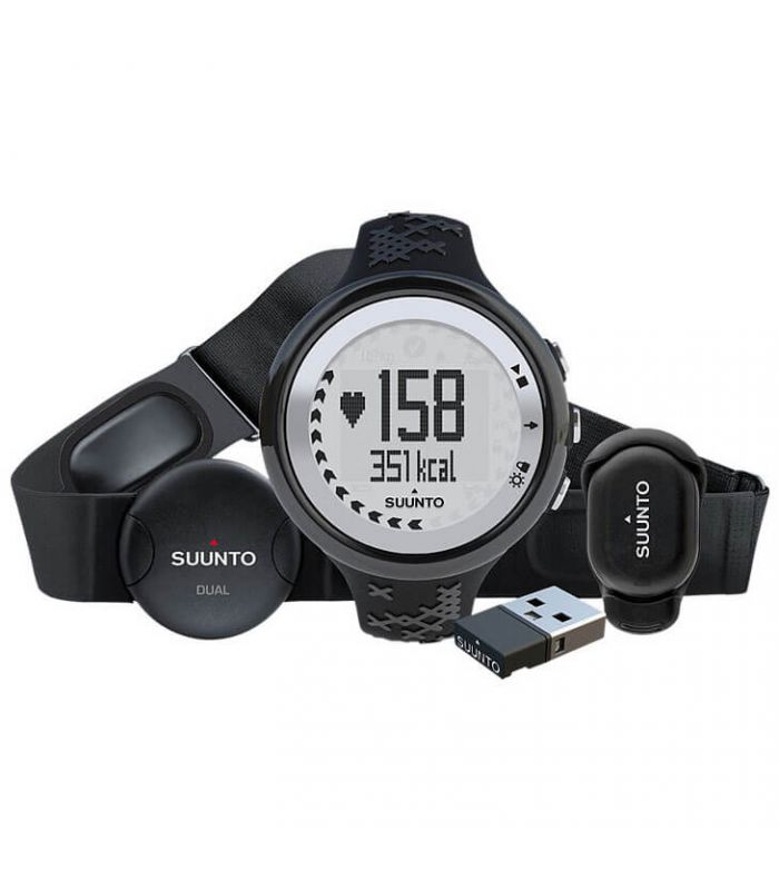 Pulsometros - Suunto M5 Black/Silver Running Pack Electronica Running