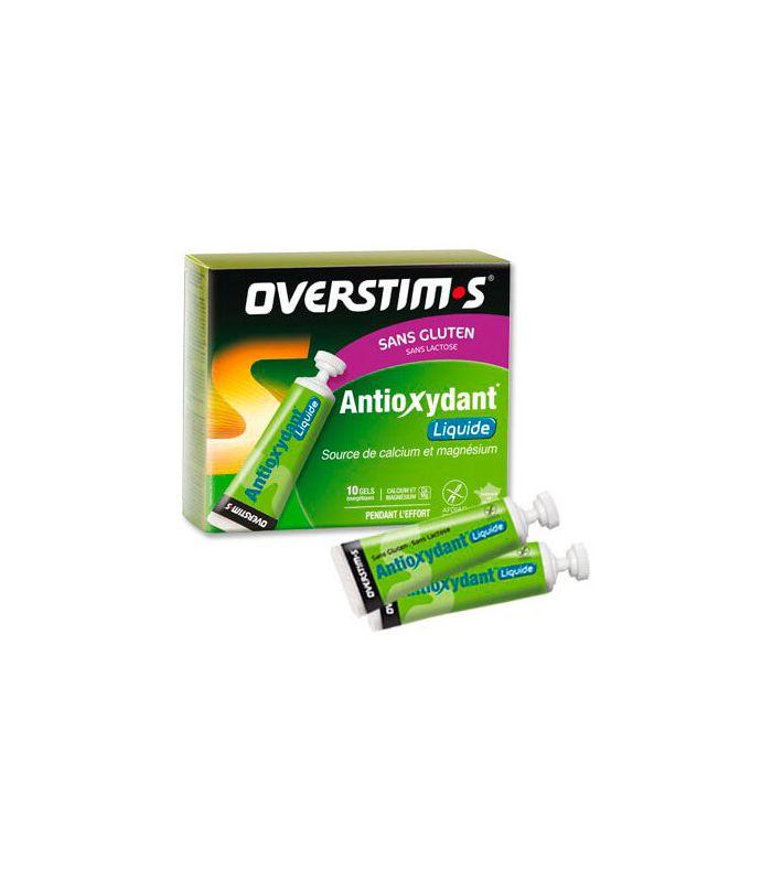 Overstims Gel Antioxydant liquide, Citron, sans Gluten